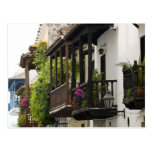Balconies in Cartagena Postcard