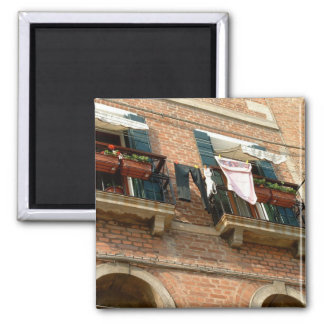 Balconies of Venice 2 Inch Square Magnet
