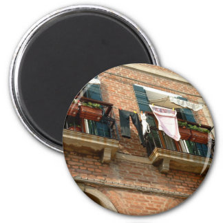 Balconies of Venice 2 Inch Round Magnet