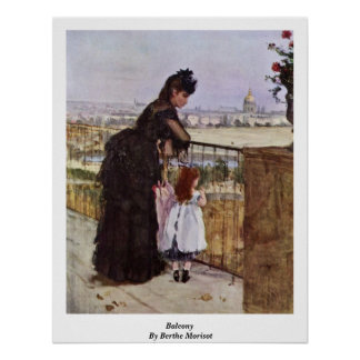 Balcony By Berthe Morisot Posters