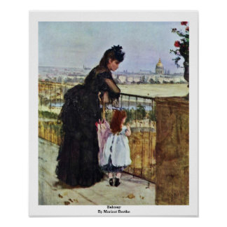 Balcony By Morisot Berthe Poster