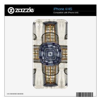 Balcony Geometric Skin For iPhone 4