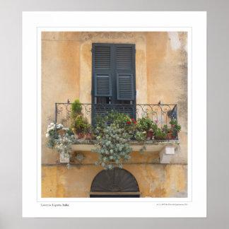 Balcony in Levanto Poster