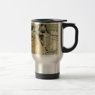 Balcony in Rue de Rivoli 1864 Travel Mug