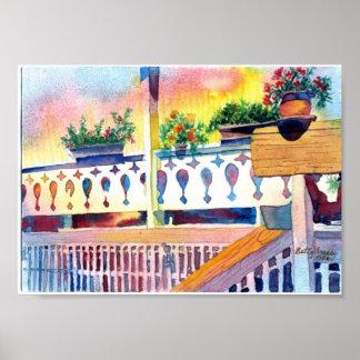 Balcony Porch Print