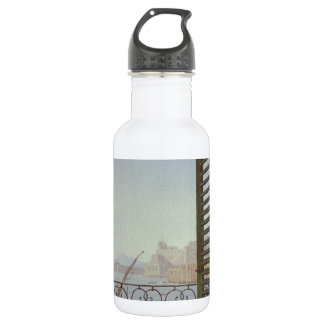 Balcony Room with a View of the Bay of Naples Stainless Steel Water Bottle