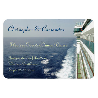 Balcony Row Group Cruise Door Marker Rectangular Photo Magnet