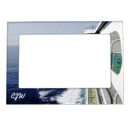 Balcony Row Monogrammed Magnetic Picture Frame