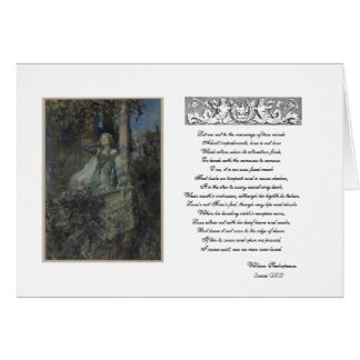 Balcony Scene with Juliet Greeting Card