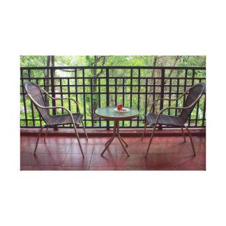 Balcony Table Canvas Print