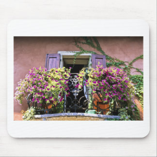 Balcony with Flowers Mouse Pad