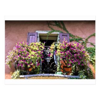 Balcony with Flowers Postcard
