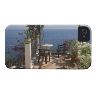 Balcony with sunloungers overlooking sea, iPhone 4 Case-Mate case
