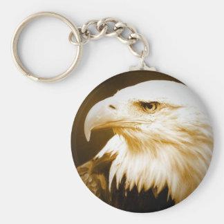 Bald American Eagle Eye Keychains