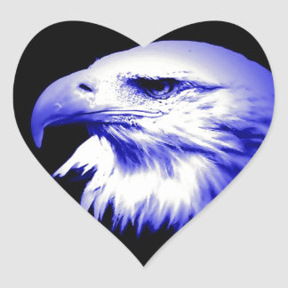 Bald American Eagle Heart Sticker