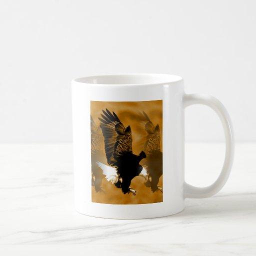 Bald American Eagle in Flight Classic White Coffee Mug