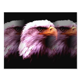 Bald American Eagle 4.25x5.5 Paper Invitation Card