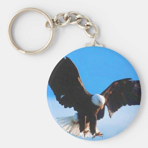 Bald American Eagle Key Chain