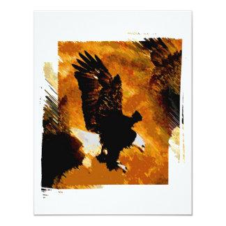 Bald American Eagle Landing 4.25x5.5 Paper Invitation Card