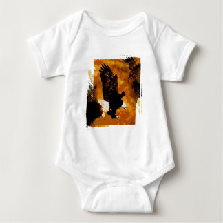 Bald American Eagle Landing Baby Bodysuit