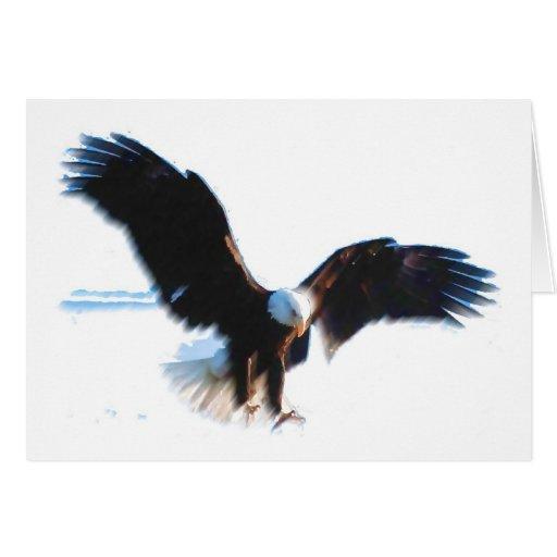 Bald American Eagle Landing Card