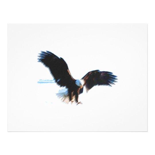 Bald American Eagle Landing Flyer