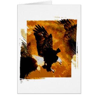 Bald American Eagle Landing Greeting Card