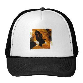 Bald American Eagle Landing Trucker Hat