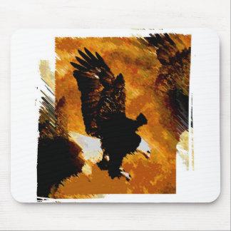 Bald American Eagle Landing Mouse Pad