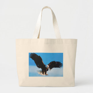 Bald American Eagle Large Tote Bag