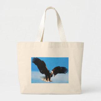 Bald American Eagle Large Tote Bag