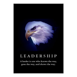 Bald American Eagle Motivational Leadership Poster