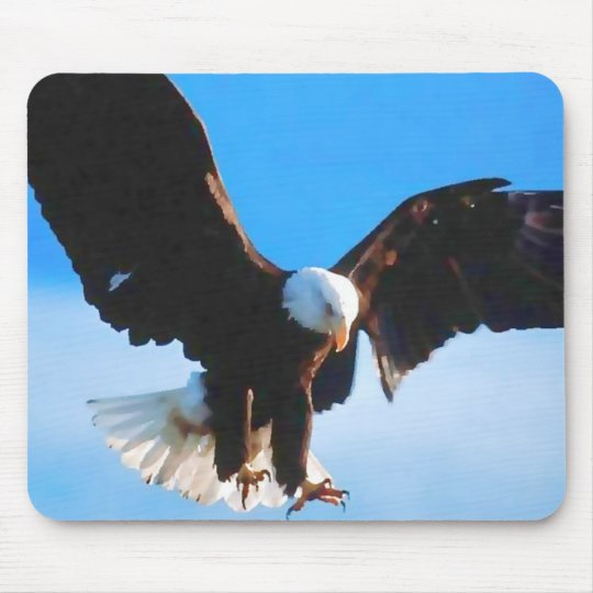 Bald American Eagle Mouse Pad