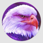 Bald American Eagle Round Stickers