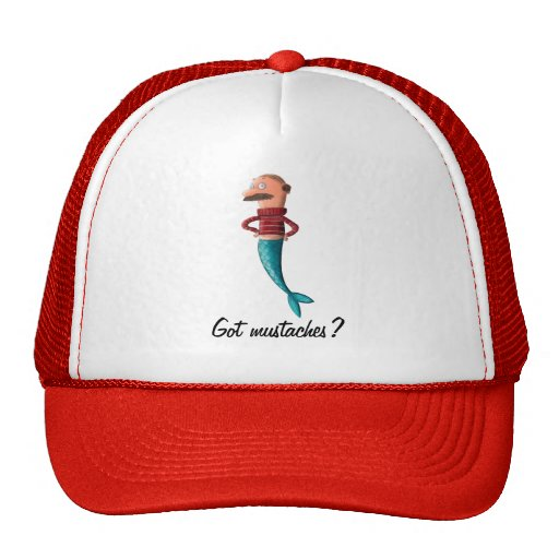 Bald and Moustached Mermaid Hats