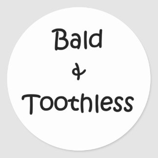 Bald and Toothless Round Sticker