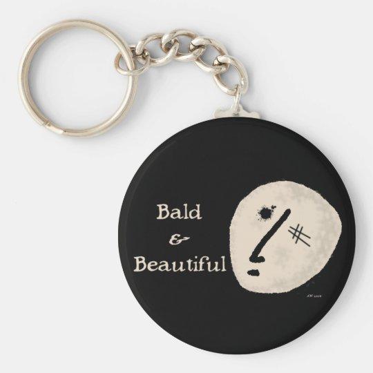 Bald & Beautiful Keychain