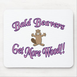 Bald Beavers Get More Wood Mouse Pad
