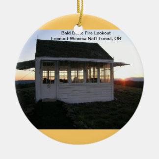 Bald Butte Fire Lookout Christmas Ornament
