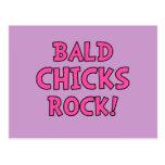 Bald Chicks Rock - Cancer Awareness Postcard