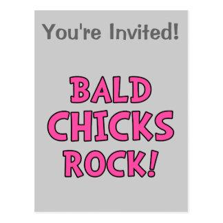 Bald Chicks Rock - Cancer Awareness Postcards