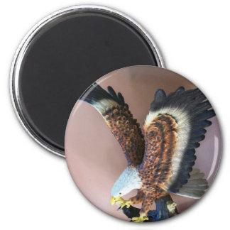 Bald Eagle 2 Inch Round Magnet
