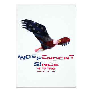 Bald Eagle 4th of July 5x7 Paper Invitation Card