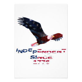 Bald Eagle 4th of July Personalized Announcements