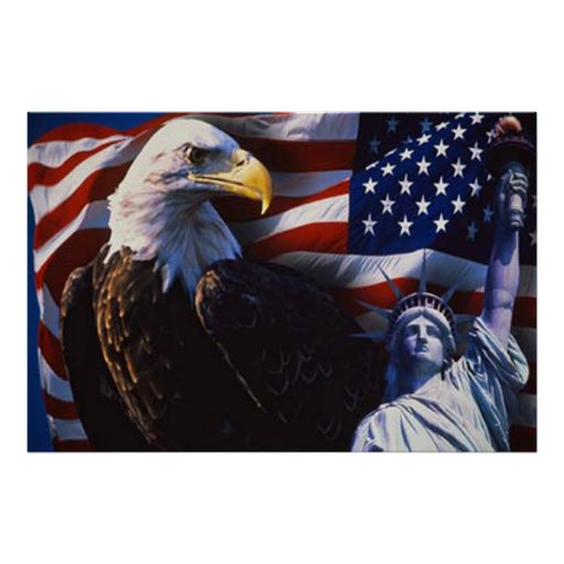 Bald Eagle 4th Of July poster 5