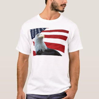 Bald Eagle Against the American Flag Shirt