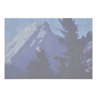 bald eagle, alberta poster