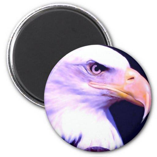 Bald Eagle - American Eagle 2 Inch Round Magnet