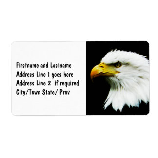 Bald Eagle - American Eagle Photograph Personalized Shipping Labels