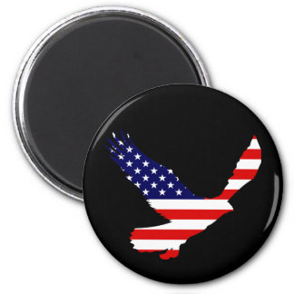 Bald Eagle American Flag 2 Inch Round Magnet